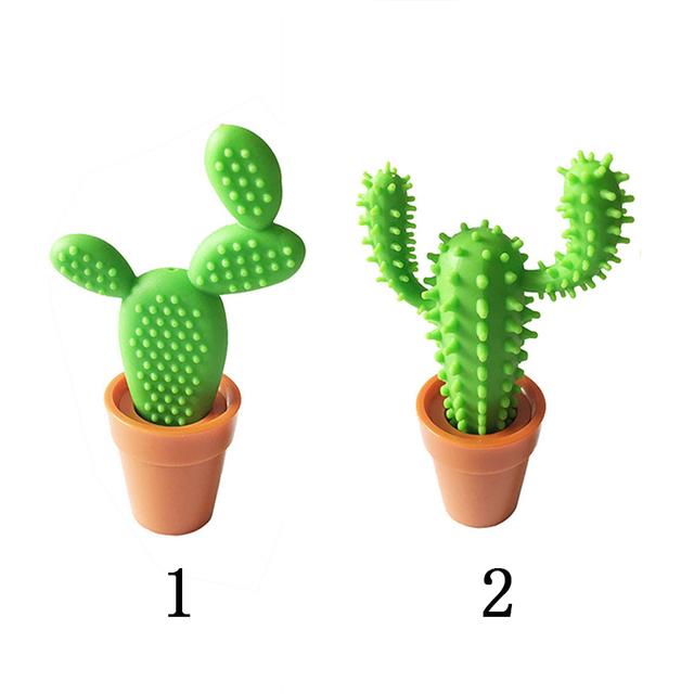 Funny Plastic Green Cactus Ballpoint Pen