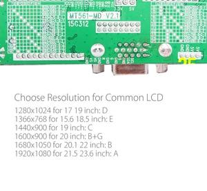 Image 4 - Programa livre verison MT561 MD vga + dc lvds lcd placa de motorista geral para 10 42 polegada painel do monitor lcd com botão de 5 teclas e energia