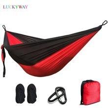 2 mensen Hangmat 2019 Camping Survival Tuin Jacht Leisure Reizen Dubbele Persoon Draagbare Parachute Hangmatten GRATIS VERZENDING