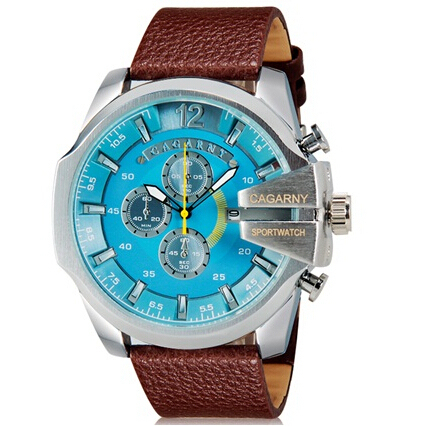 CAGARNY 6839 Men's Casual Fashionable Large Dial Sport Watch with Calendar 0150