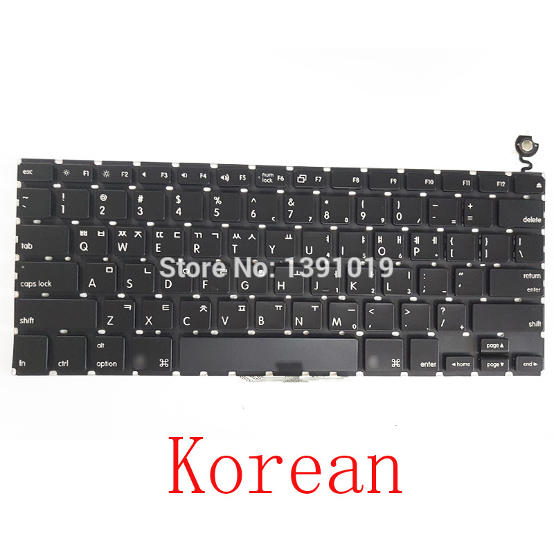 "Genuine Original A1181 Black Korean Keyboards Multilingual For Apple Macbook Air Laptop Notebook Parts Keyboard 13 inch"" Replacement"""