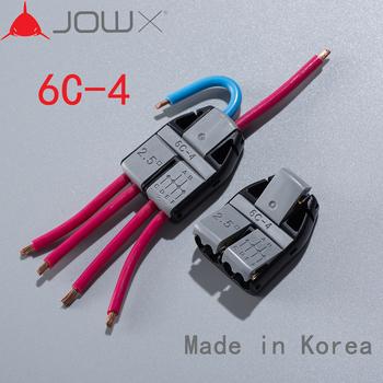 JOWX 6C-4 10 sztuk 14-13AWG 2 5sqmm 6 przewody połączone nieusuwany długi kabel złącza przewodów szybkozłączki blok tanie i dobre opinie
