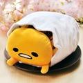 super cute plush toy gudetama lazy Egg yolk eggshell storage pocket folded blanket nap pillow creative birthday gift 1pc