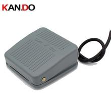 0-400 В Педальный переключатель, ножной Мгновенный Переключатель управления электрической педалью питания SPDT серый цвет Аварийная кнопка