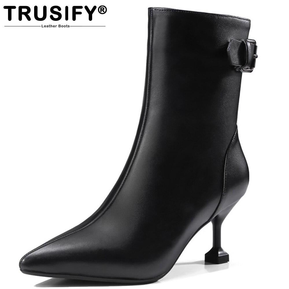 bottes boucle mi mollet femmes promotion-achetez des bottes boucle