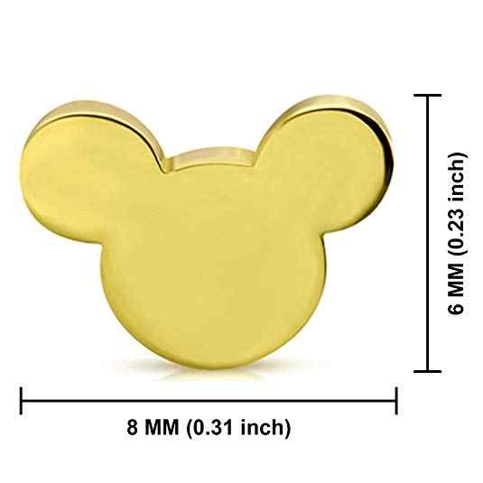 Kinitial かわいい漫画ミッキーミニーのスタッドのイヤリングエレガントな動物蝶葉のイヤリング 2019 ジュエリーイヤリング卸売