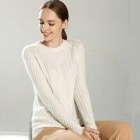 2017 Autumn Winter New Cashmere Sweater Women Thick Sweater O Neck Collar Sweater Pure Cashmere Sweater