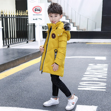 Kids Coats Children Thickening Cotton-padded Clothes Long Baby Boy Clothes Cuhk Toddler Outwear  Winter Jacket цена в Москве и Питере