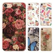 Новая Роза Пион Рододендрон Бабочка Прозрачный жесткий пластик Case Для Apple iphone 4 4s 5 5s SE 5c 6 6s 6 ПЛЮС 7 7 ПЛЮС