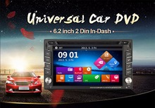 2016 New 6.2″ Touch Screen car dvd player gps navigation USB SD Bluetooth FM 2din in dash TFT support rear view camera input