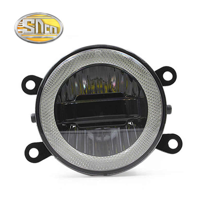 SNCN 3-IN-1 Functions Auto LED Angel Eyes Daytime Running Light Car Projector Fog Lamp For Honda Insight 2012 2013 2014