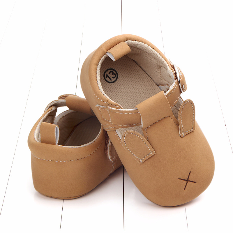 Baby First Walkers Matte leather Shoes for Baby Girl Boy Cartoon Animal Newborn Slippers Footwear Booties Kids Gift Child Shoes (30)
