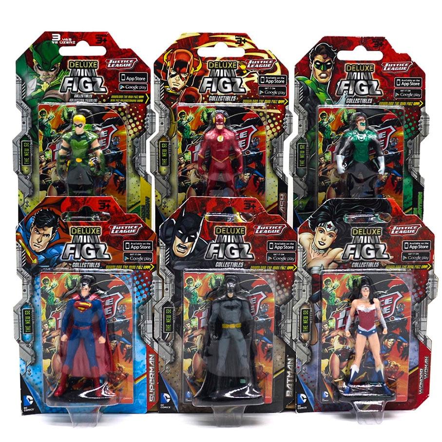 Original DC Figures Action Toy For Children Justic League Superheroes Batman Green Lantern Arrow The Flash Superman Wonder Woman
