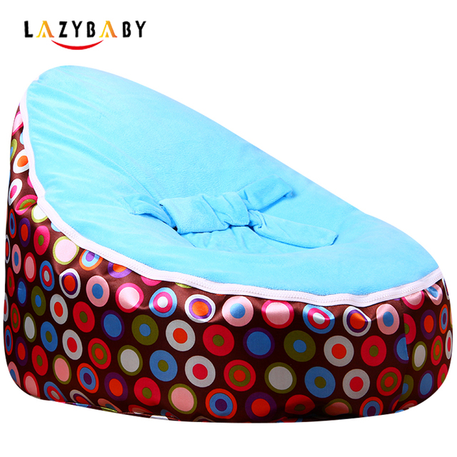 Lazybaby Medium Coffee Circle Baby Bean Bag Chair Kids Bed For Sleeping Portable Folding Newborn Babies