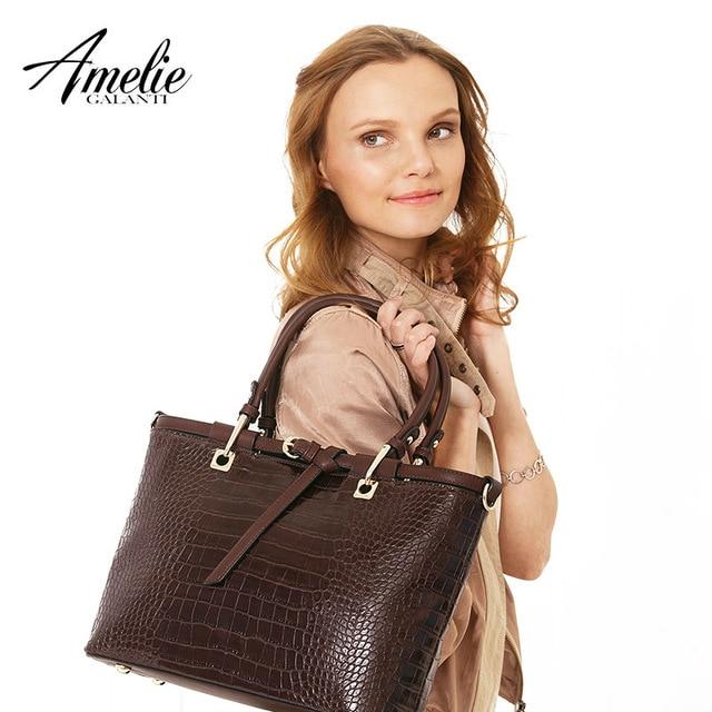 AMELIE GALANTI Классическая женская сумка  под рептилию