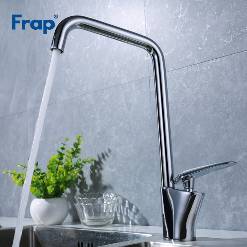 купить Frap Kitchen Faucets Deck Mounted Mixer Tap Can Rotation Solid Brass Sink Tap Hot Cold Water Mixer Tap Crane For Kitchen Y40005 по цене 3836.42 рублей