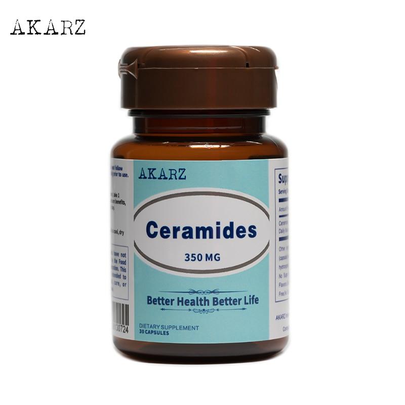 AKARZ Famous Brand Ceramides Potent Antioxidant Supports Immune Health Anti-Aging Moisturizing 350MG