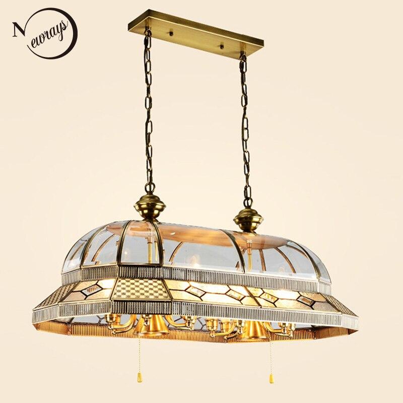 Europe Palace Baroque Style Big Vintage Copper Pendant Lights Hanging Lamp Loft LED E14 E27 For Hotel Restaurant Living Room Bar