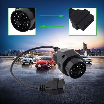 Automobile Transfer Line OBD II Adapter BMW 20 pin to OBD2 16 PIN Female Connector e36 e39 X5 Z3 for BMW 20pin A103 image