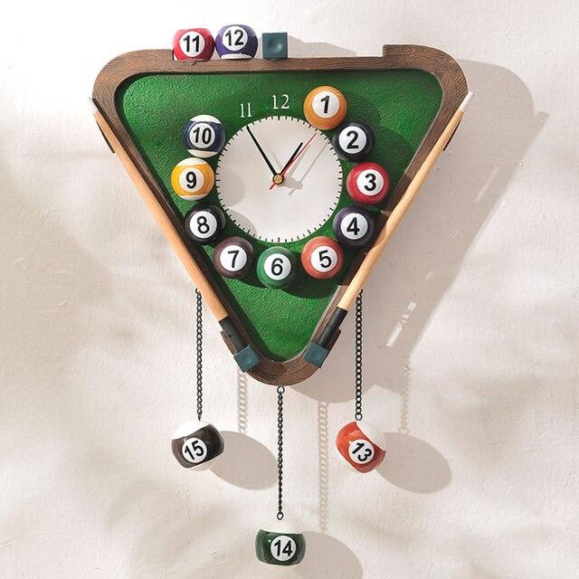 Novelty Modern Billiards Shape Wall Clock Fashion Silent Meeting Room Decor Clocks Home Decoration Watch