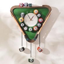 Novelty Modern Billiards shape Wall Clock fashion silent meeting room wall decor clocks home decoration watch wall F2-18L