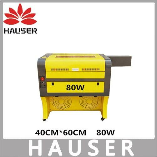 Freies Verschiffen HCZ 80 watt co2 laser CNC 4060 lasergravur cutter laserbeschriftungsanlage mini laserengraver cnc router diy