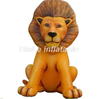 Outdoor lifelike giant inflatable lion inflatable animal shape for theme park decoration
