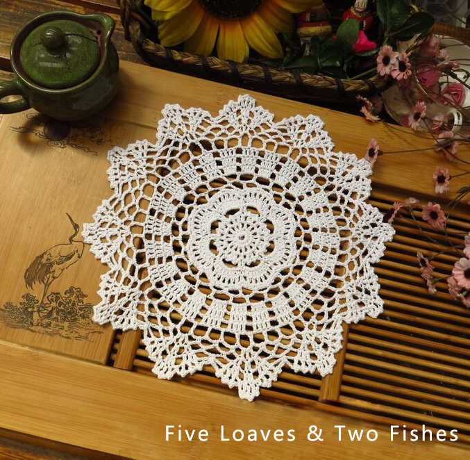 Detail Feedback Questions About 2pcs Lot New Cotton Crochet Doily