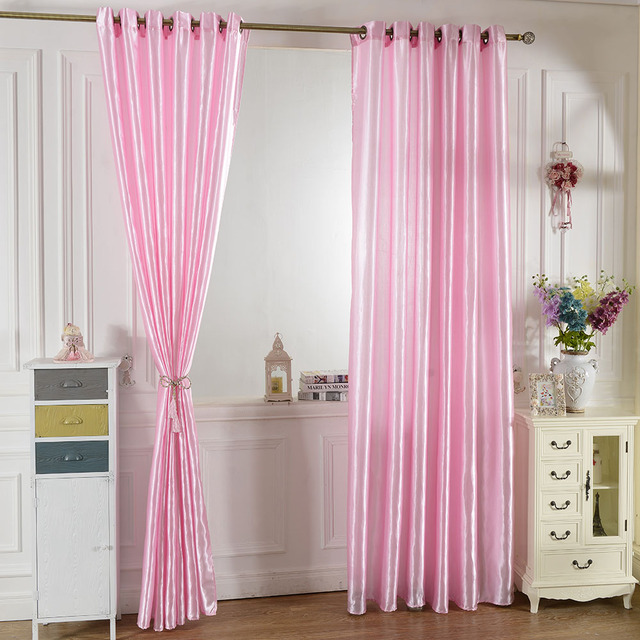 Aliexpress.com : Buy 2PCS 100*250cm Curtains for the Bedroom Solid ...