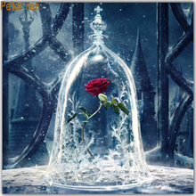 Peter ren Diamond painting landscap Square&Round mosaic embroidery hand-painted decorative Rose in a greenhouse