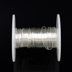 Image 5 - DINWEN 99.998% di Elevata Purezza Solido Puro Argento Hifi Audio FAI DA TE Cuffia del Trasduttore Auricolare Cavo di Linea di Segnale Filo Nudo 0.1 millimetri  2.0 millimetri