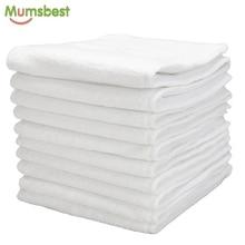 [Mumsbest] 10 шт. моющийся многоразовый детские тканевые подгузники, подгузники, вставки из микрофибры, 3 слоя