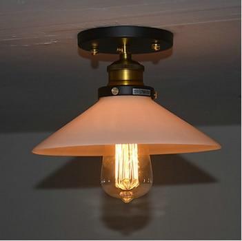 ФОТО 1 Light Luminaire Flush Mount Loft Vintage Edison Bulb Ceiling  For Living Room Hallway,E27*1 Included,AC 110V~220V