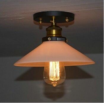 1 Light Luminaire Flush Mount Loft Vintage Edison Bulb Ceiling Light For Living Room Hallway,E27*1 Bulb Included,AC 110V~220V