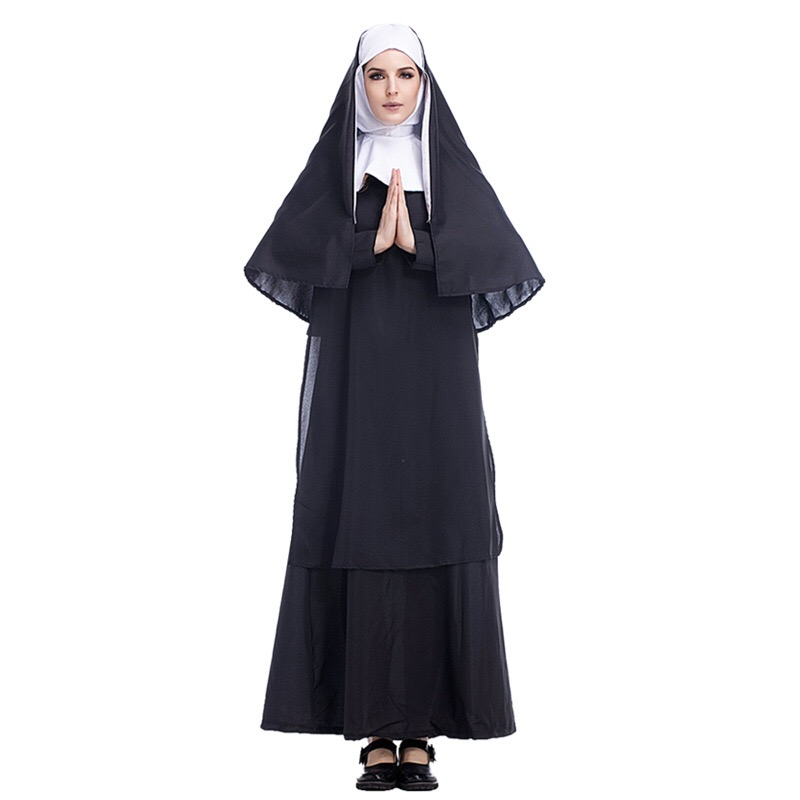 Halloween Costume Cos Jesus Christ Male Missionary Priest Nun Role Play Clothing 293