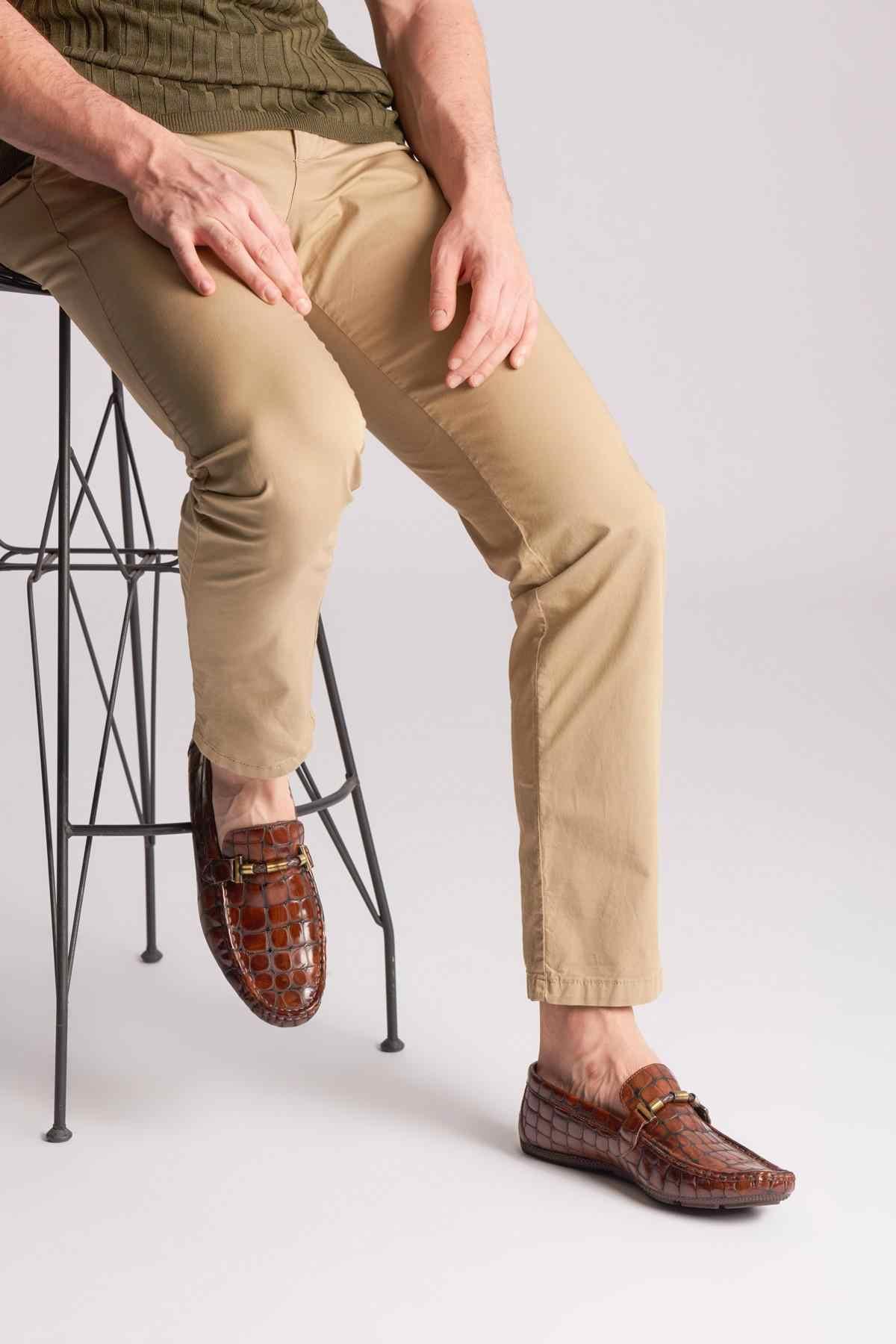 Pearl Dark Tan Men Loafer Shoes