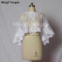 Wedding Accessories Lace Elegant Wedding Bolero bridal jacket White/ivory wedding jacket Women Coat Custom Made Mingli Tengda