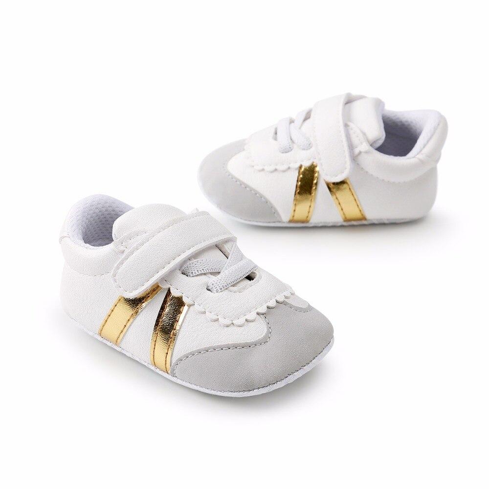 Baby Baby Boy Meisjes Schoenen PU-leer Gestreepte katoenen - Baby schoentjes - Foto 5