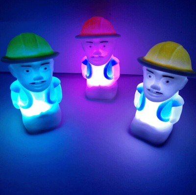 7 Colour Baldheaded Strong Small Light Led Colorful Cartoon Unisex Movie & Tv Toy Plastic Electronic Flashing