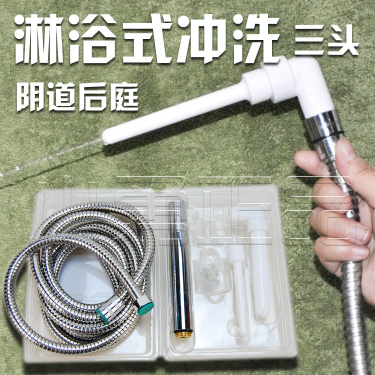 HOT anal Shower Enema Water Nozzle 3 Style Plug Head Enema Anal Cleaning Vaginal Washing Kit/Faucet Anal Sex Toy For Couples anal