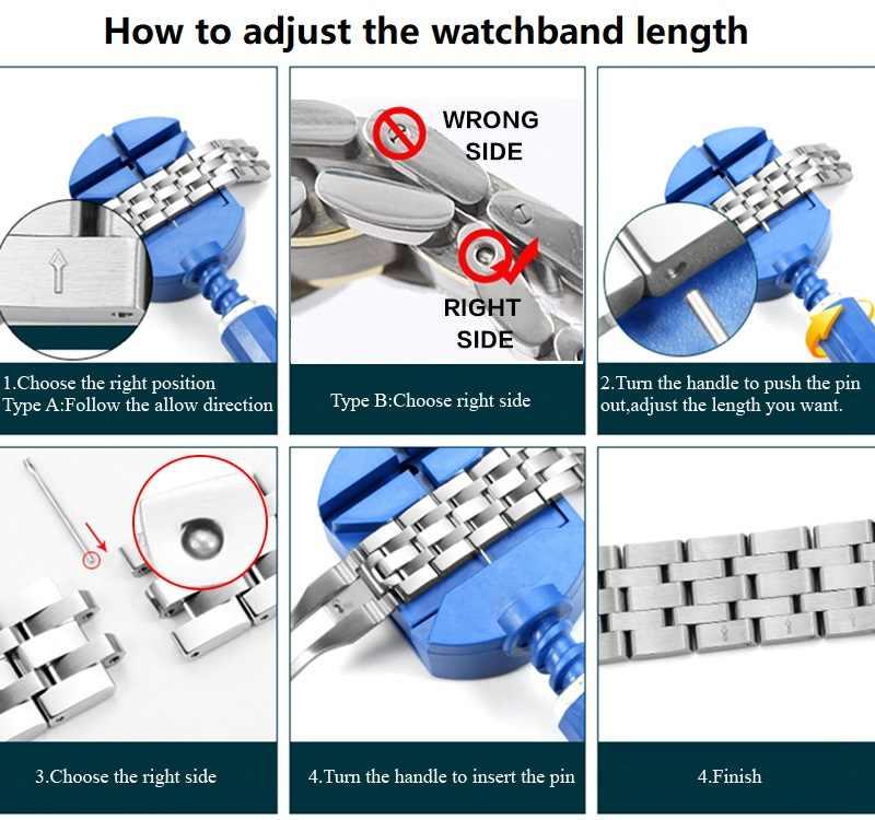 Izle Aksesuarları WatchBand Pin Sökücü Onarım Ayarlamak Uzunluğu Aracı Izle paslanmaz çelik şerit Uzunluğu Ayarı Aracı