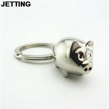 JETTING Lovely Mini Pig Key Chain Key Ring Cute Gift Keyring Charm Decoration Keyfob Gifts Wholesale 1Pcs(China)
