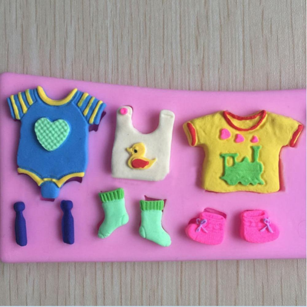 Popular Baby Shower Pastries Buy Cheap Baby Shower Pastries Lots 3d Baby  Shower Silicone Fondant Mould