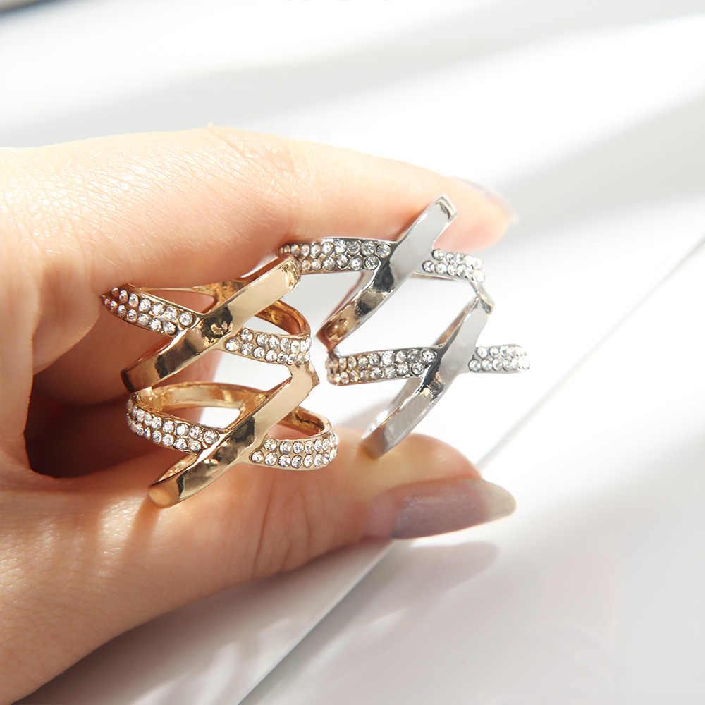 1 PC Bros untuk Wanita Indah Paduan Wanita Rhinestone Bros Syal Pin Gesper Klip Fashion Perhiasan Hadiah Hot Sale
