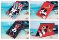 Бесплатная Доставка Мультфильм Минни Микки Маус Флип Кожа PU Case For Samsung Galaxy Tab 4 10.1 T530 T531 С Стенд Держатель Крышки