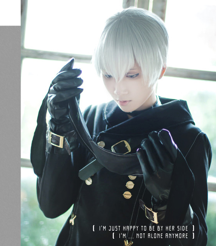 NieR:Automata 9S YoRHa No.9 Model S Wistalia Short Silver White Heat Resistant Cosplay Costume Wig (not Include Eye Patch)