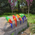 Grande 40 cm colorido loro pájaro, espuma de plástico y plumas de loro de juguete modelo de simulación, prop, home garden decoration regalo w5570