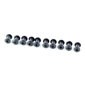 Image 4 - Conjunto de 100 parafusos de montagem de equipamento, arruelas de borracha pretas com ponta cruzada de chicago, arma kydex com suporte de equipamento de montagem