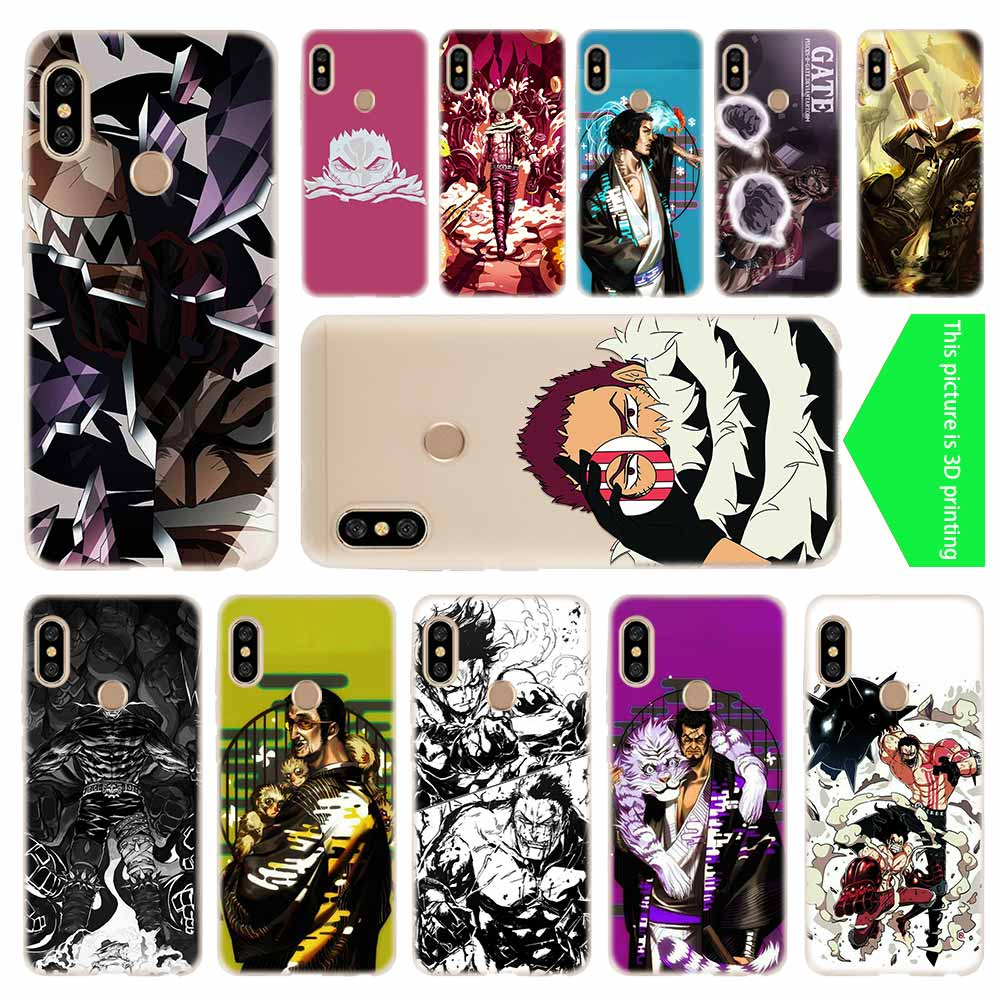 cover soft Silicone TPU Phone Case For Xiaomi Redmi 4X 4a 5 Plus 5a S2 6a 6 Note 8 7 5 6 4 5a Pro <font><b>One</b></font> <font><b>Piece</b></font> <font><b>Katakuri</b></font> image