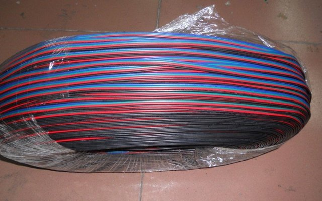 4pin RGB cable 18AWG for led module use;50m a roll